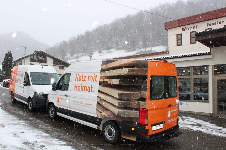 VW-Busse Holz mit Heimat